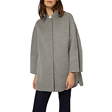 Buy Jaeger Double Faced Wool Cape Coat, Grey Online at johnlewis.com