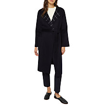 Buy Jaeger Long Sleeve Wool Trench Coat, Navy Online at johnlewis.com