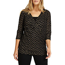 Buy Studio 8 Milly V-Neckline Wrap Top, Black/Gold Online at johnlewis.com