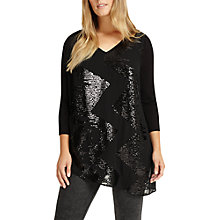 Buy Studio 8 Nikita V-Neck Top, Black Online at johnlewis.com