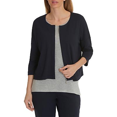 Betty & Co. Jersey Zipped Jacket, Blue Nights