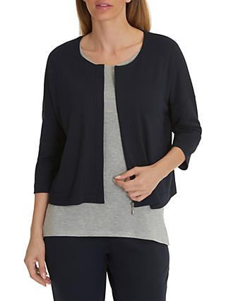 Betty & Co. Jersey Zipped Jacket, Blue Nights