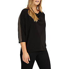 Buy Studio 8 Hannah Beaded Trim Top, Black Online at johnlewis.com