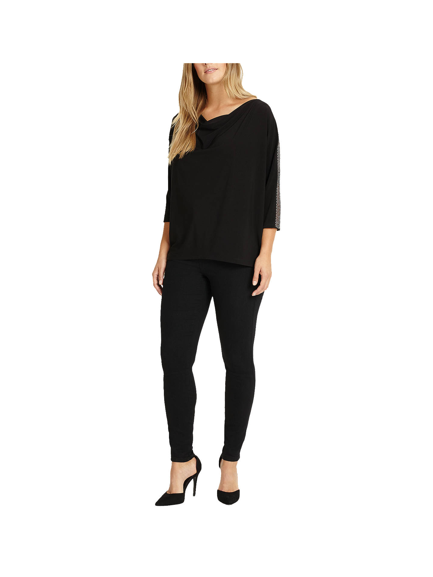 Buy Studio 8 Hannah Beaded Trim Top, Black, 12 Online at johnlewis.com