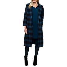 Buy East Wool Rich Check Coat, Granite Online at johnlewis.com