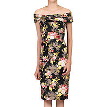 Buy Jolie Moi Bardot Neck Lace Occasion Dress, Black/Multi Online at johnlewis.com