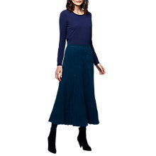 Buy East Cord Crinkle Skirt, Dark Teal Online at johnlewis.com