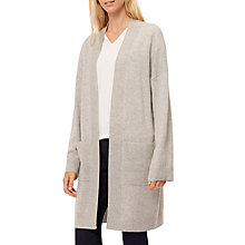 Buy Jaeger Cashmere Long Slouchy Cardigan, Grey Melange Online at johnlewis.com