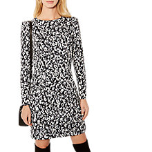 Buy Karen Millen Leopard Print Pencil Dress, Grey/Multi Online at johnlewis.com