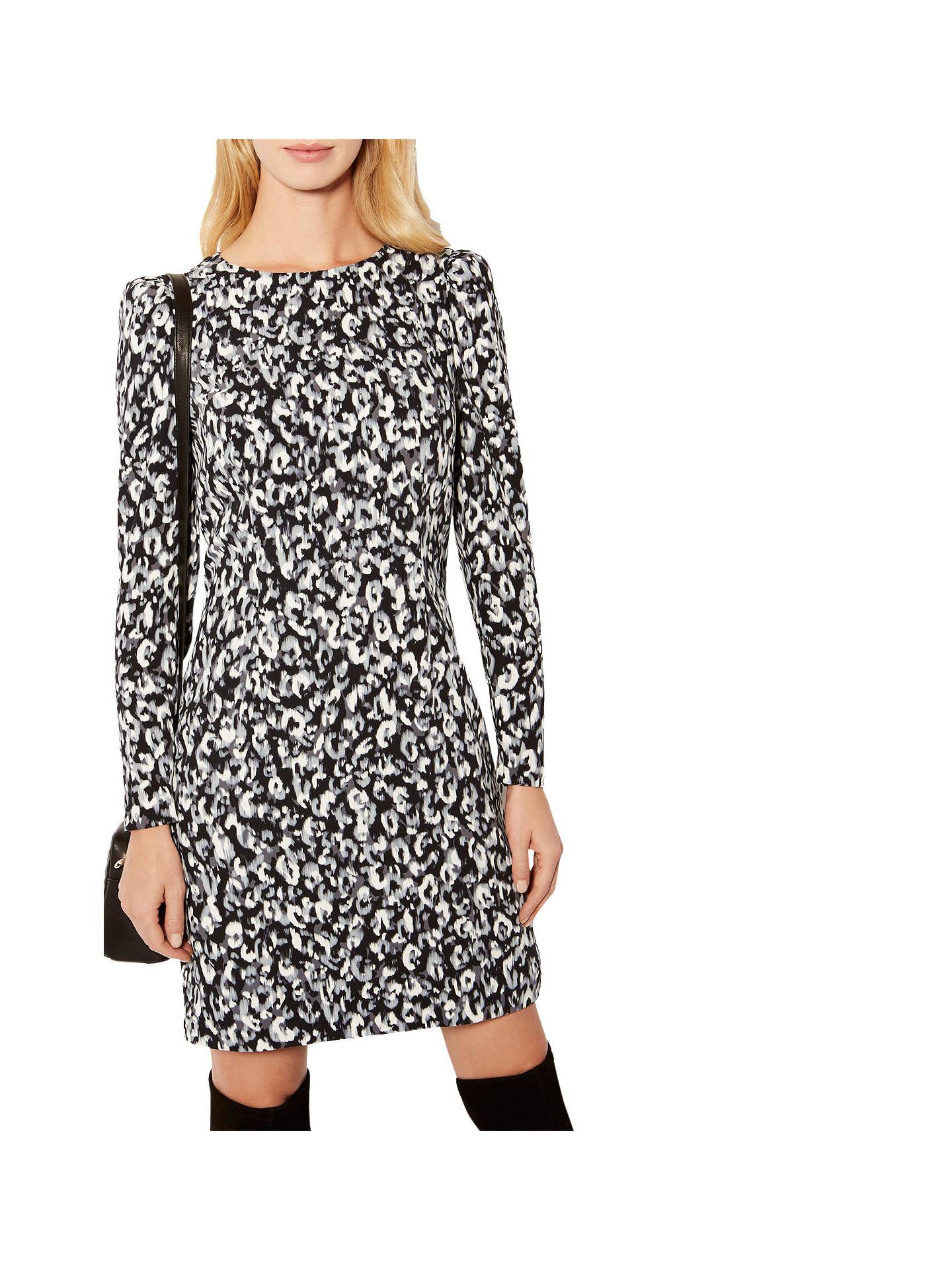 5950fc806119 Buy Karen Millen Leopard Print Pencil Dress, Grey/Multi, 6 Online at  johnlewis ...