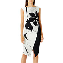 Buy Coast Barton Print Iris Shift Dress, Monochrome Online at johnlewis.com