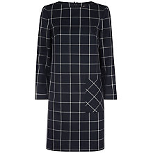 Buy Jaeger Patch Pocket Check Dress, Navy/Ivory Online at johnlewis.com
