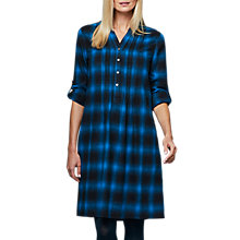 Buy East Wool Blend Checked Dress, Dark Teal Online at johnlewis.com