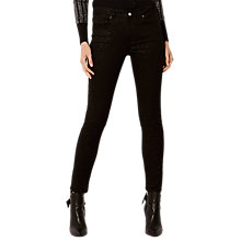 Buy Karen Millen Shimmer Jeans, Black Online at johnlewis.com