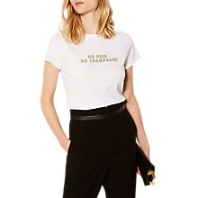 Buy Karen Millen Slogan Short Sleeve T-Shirt, White Online at johnlewis.com