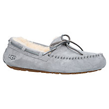 Buy UGG Dakota Sheepskin Moccasin Slippers, Grey Online at johnlewis.com