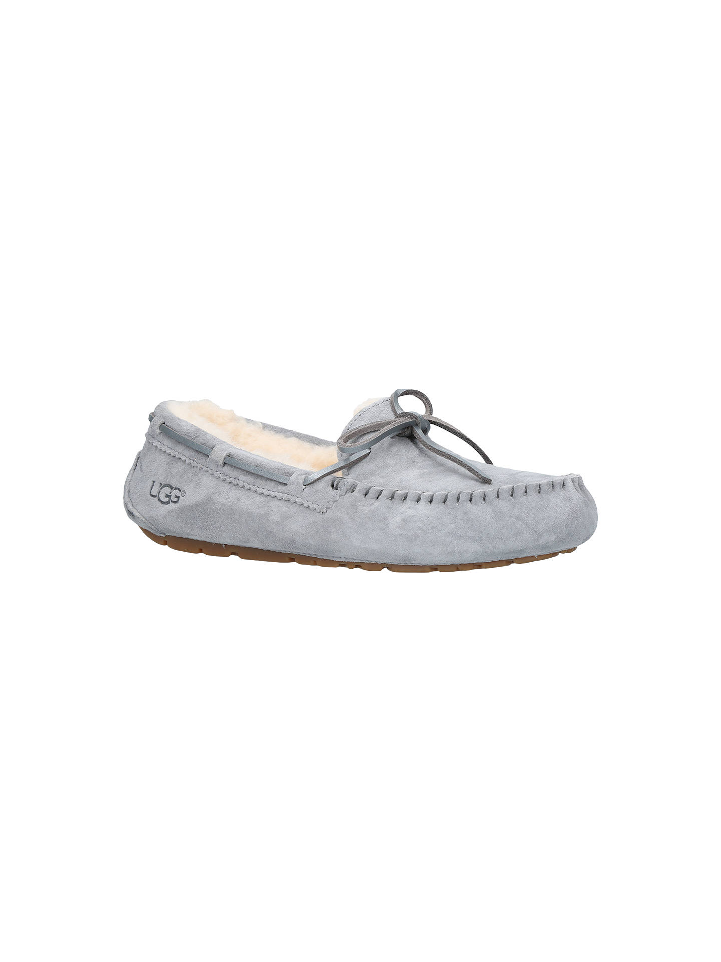 2ea64ad1179 UGG Dakota Sheepskin Moccasin Slippers, Grey at John Lewis & Partners