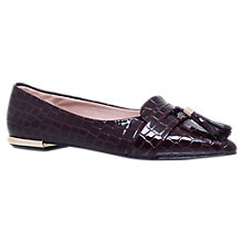 Buy Miss KG Nikki Tassel Pointed Flat Court Shoes, Wine Online at johnlewis.com