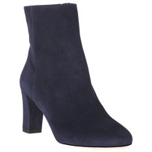 Buy L.K. Bennett Leelah Block Heeled Ankle Boots, Navy Online at johnlewis.com