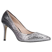 Buy Carvela Aruba Stiletto Heeled Court Shoes, Silver Online at johnlewis.com