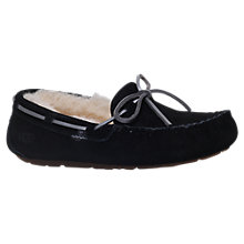 Buy UGG Dakota Moccasin Slippers, Black Online at johnlewis.com