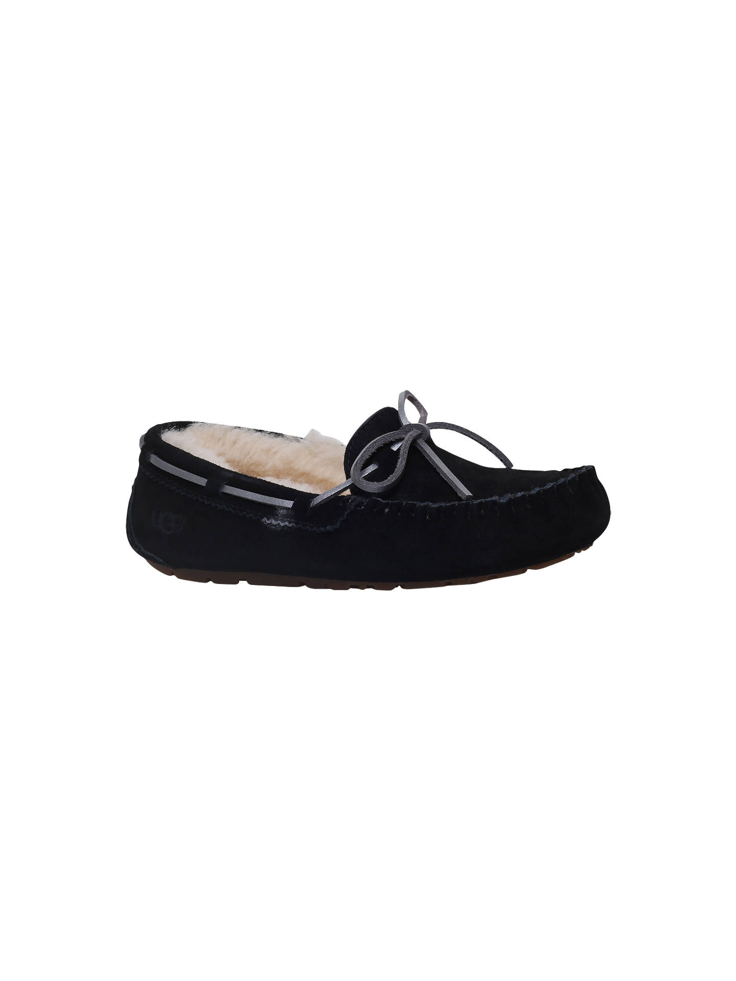 78d5f1ffc5b UGG Dakota Moccasin Slippers, Black at John Lewis & Partners