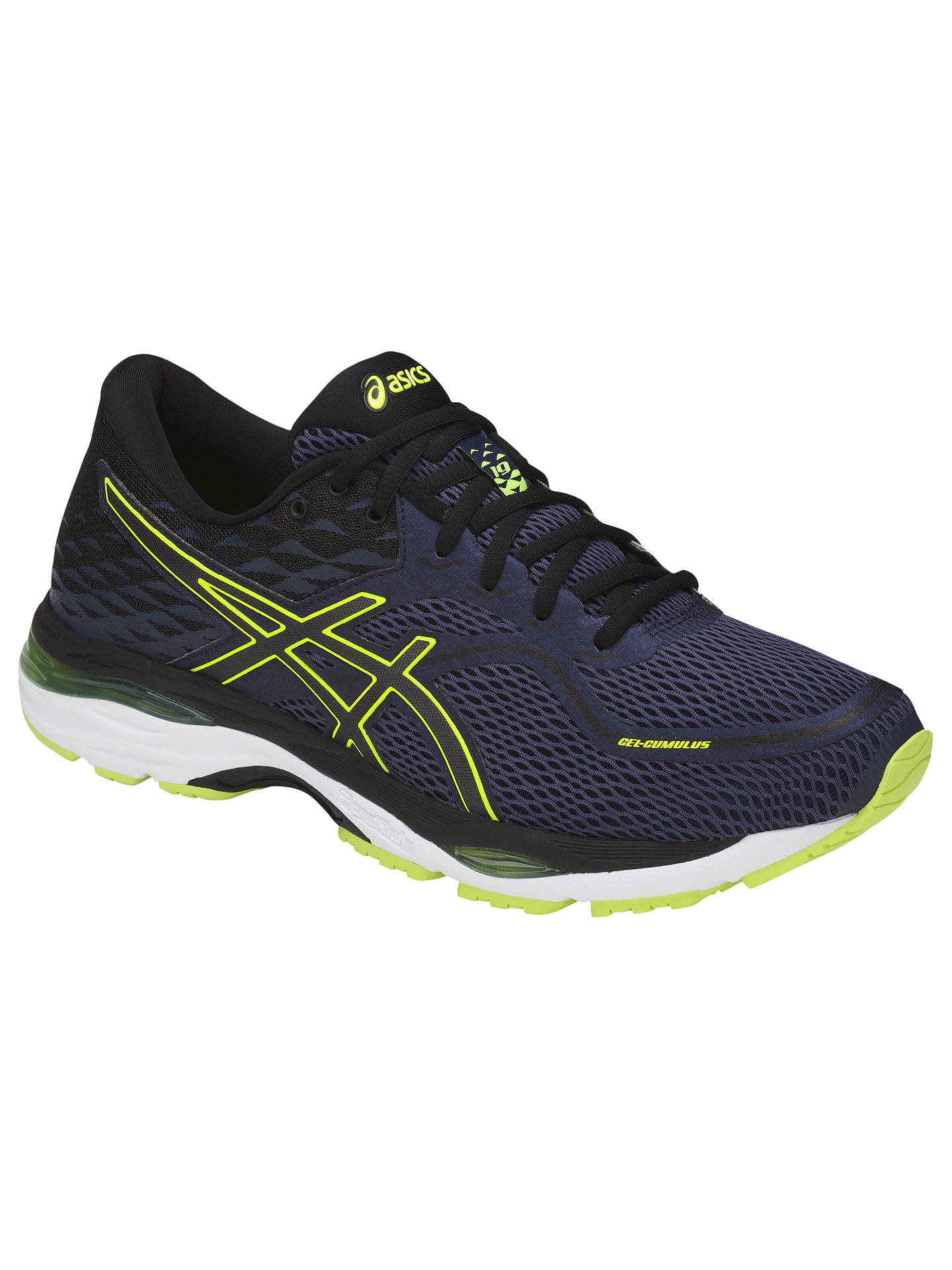 f999c1552 Buy Asics GEL-CUMULUS 19 Men's Running Shoes, Black/Indigo Blue/Safety ...