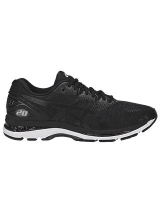 Buy ASICS GEL-NIMBUS 20 Men's Running Shoes, Black/Carbon, 7 Online at johnlewis.com