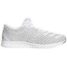 Buy Adidas Aerobounce PR Women's Running Shoes, White Online at johnlewis.com