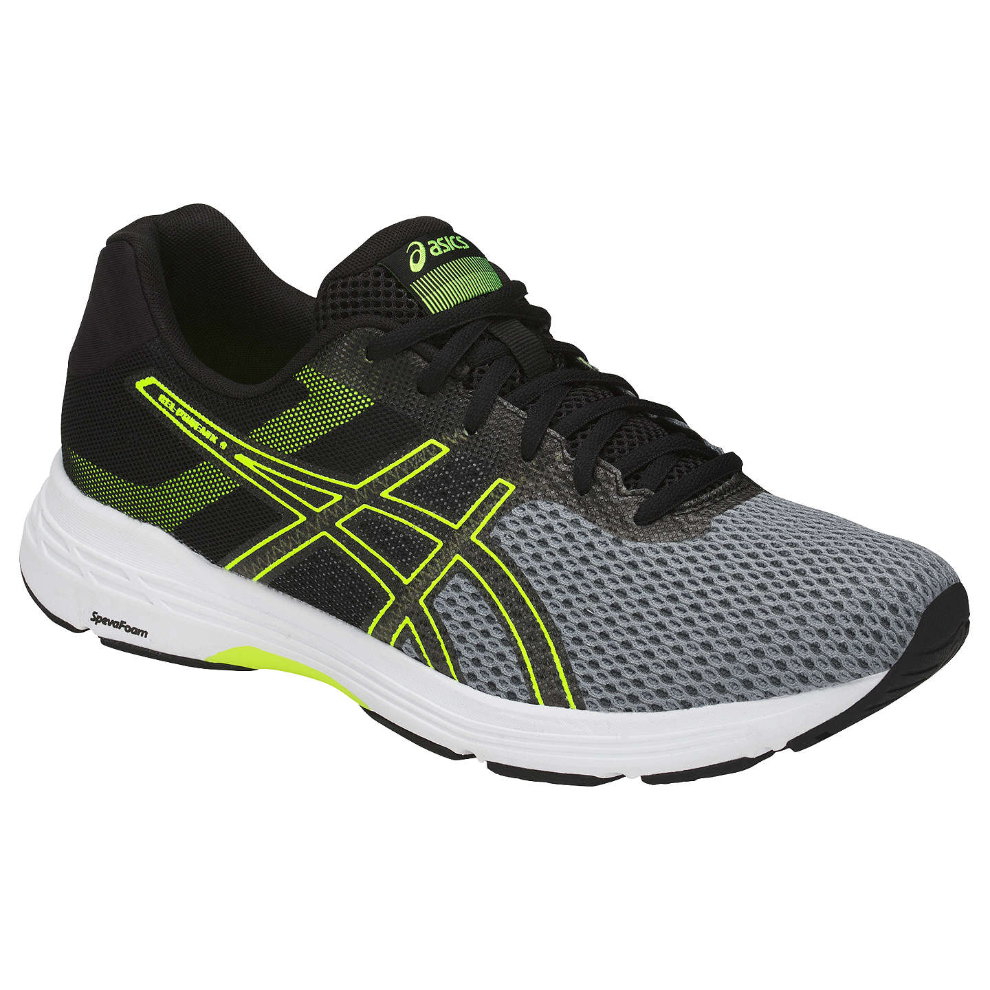 BuyAsics GEL-PHOENIX 9 Men's Running Shoes, Stone Grey/Black/Safety Yellow  ...