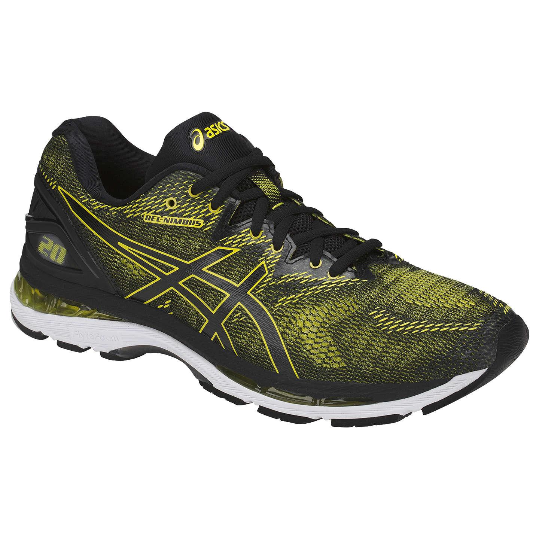 BuyAsics GEL-NIMBUS 20 Men's Running Shoes, Black/Sulphur, 7 Online at ...