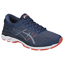 Buy Asics GEL-KAYANO 24 Men's Structured Running Shoes, Smoke Blue/Dark Blue Online at johnlewis.com