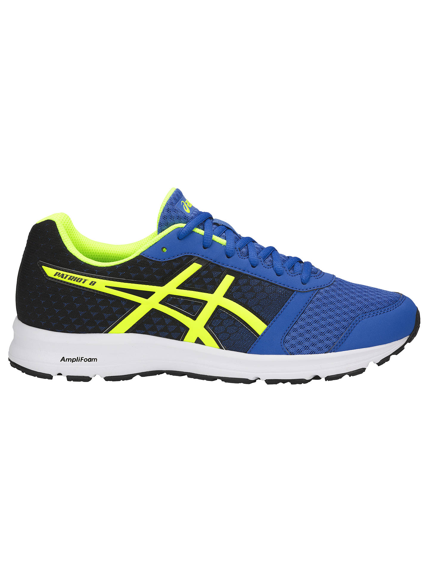 huge selection of 1be6e 47429 Buy ASICS Patriot 9 Men s Running Shoes, Victoria Blue Yellow Black, 7 ...