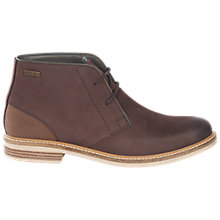 Buy Barbour Redhead Lightweight Chukka Boots, Dark Brown Online at johnlewis.com