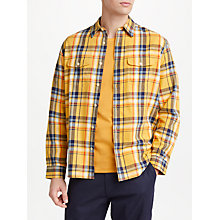 Buy JOHN LEWIS & Co. Magma Check Shirt, Yellow Online at johnlewis.com