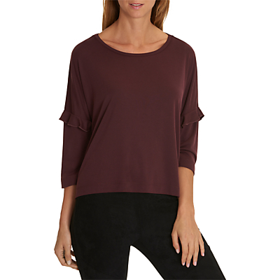 Betty & Co. Oversized Fine Ribbed T-Shirt, Autumn Red