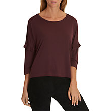 Buy Betty & Co. Oversized Fine Ribbed T-Shirt, Autumn Red Online at johnlewis.com