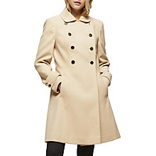 Buy Miss Selfridge Double Button Wool Coat Online at johnlewis.com