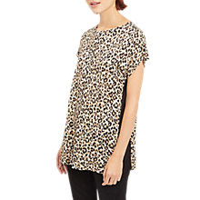 Buy Jaeger Jersey Leopard Print Top, Black/Green Online at johnlewis.com