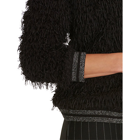 Buy Betty & Co Shaggy Textured Zip Cardigan, Black Online at johnlewis.com