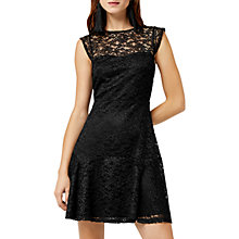 Buy Warehouse Lace Sweetheart Dress, Black Online at johnlewis.com