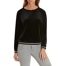 Buy Betty & Co. Sporty Velvet Top, Black Online at johnlewis.com