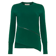 Buy Damsel in a dress Emera Asymmetric Zip Top, Emerald Online at johnlewis.com