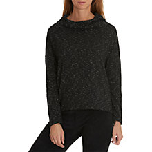 Buy Betty & Co. Textured Jersey Top, Black/Cream Online at johnlewis.com