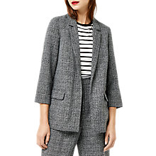 Buy Warehouse Textured Slim Fit Blazer, Dark Grey Online at johnlewis.com