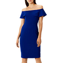 Buy Coast Nancy Bardot Shift Dress, Cobalt Blue Online at johnlewis.com