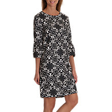 Buy Betty & Co. Monochrome Bell Sleeve Dress, Black/Cream Online at johnlewis.com