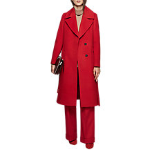 Buy Reiss Chiltern Side Split Coat, Maraschino Online at johnlewis.com