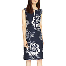 Buy Phase Eight Floral Jacquard Dress, Navy/Ivory Online at johnlewis.com