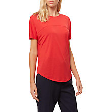 Buy Jaeger Curved Hem Jersey T-Shirt, Bright Red Online at johnlewis.com